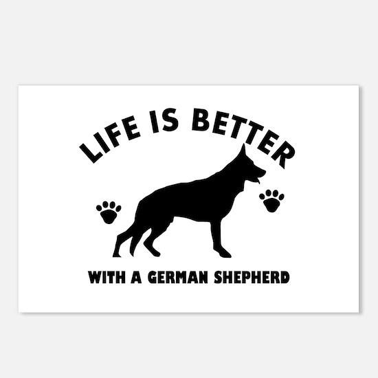 German shepherd breed Design Postcards (Package of