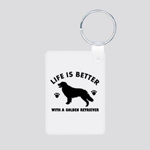 Golden retriever breed Design Aluminum Photo Keych