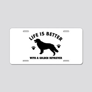 Golden retriever breed Design Aluminum License Pla