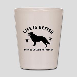 Golden retriever breed Design Shot Glass