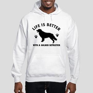 Golden retriever breed Design Hooded Sweatshirt