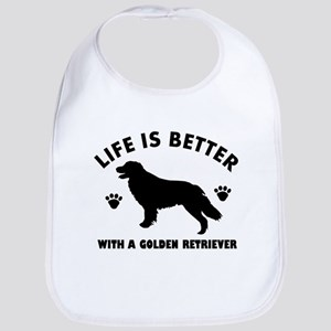 Golden retriever breed Design Bib
