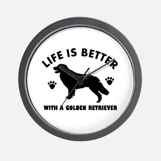 Golden retriever breed Design Wall Clock