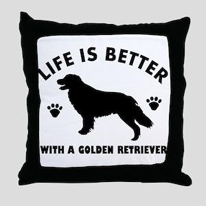 Golden retriever breed Design Throw Pillow