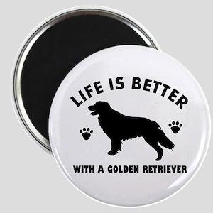 Golden retriever breed Design Magnet