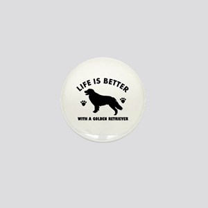 Golden retriever breed Design Mini Button