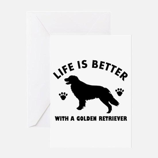 Golden retriever breed Design Greeting Card