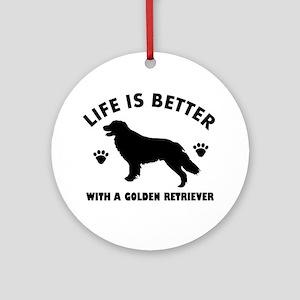 Golden retriever breed Design Ornament (Round)