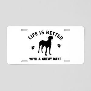 Great Dane breed Design Aluminum License Plate