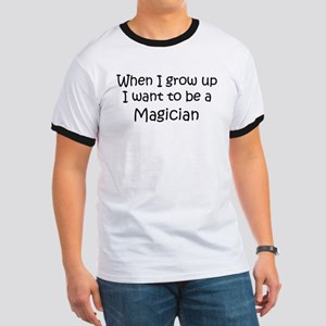 Grow Up Magician Ringer T