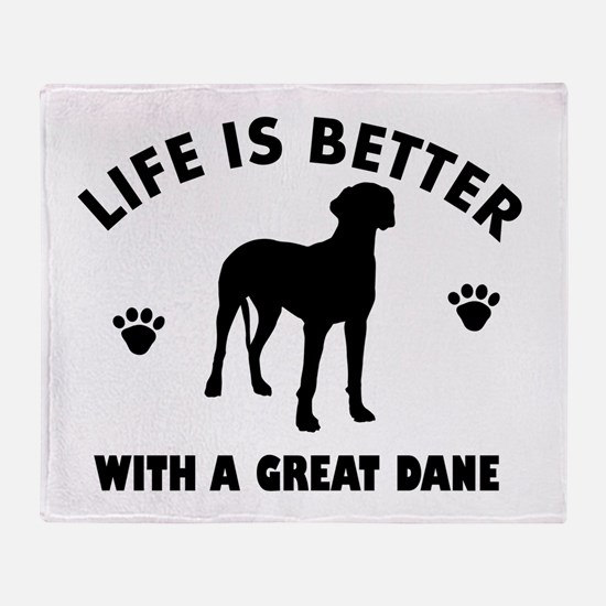 Great Dane breed Design Throw Blanket