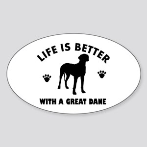 Great Dane breed Design Sticker (Oval)