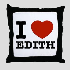 I love Edith Throw Pillow