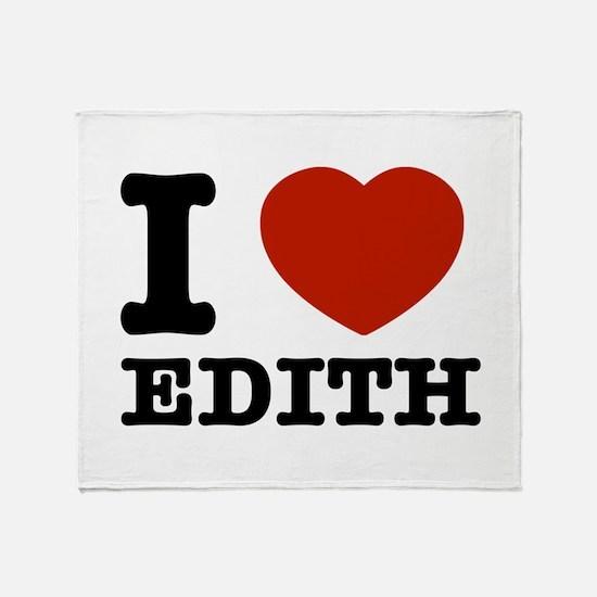 I love Edith Throw Blanket