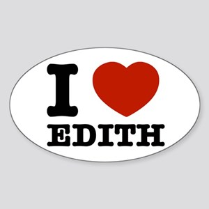 I love Edith Sticker (Oval)