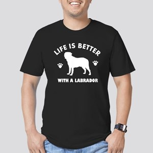 Labrador breed Design Men's Fitted T-Shirt (dark)