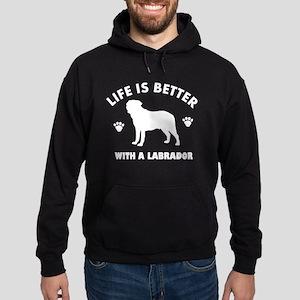 Labrador breed Design Hoodie (dark)