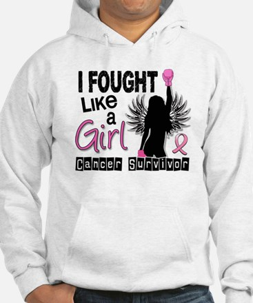 Licensed Fought Like a Girl 26S Hoodie