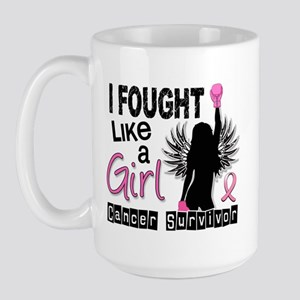 Licensed Fought Like a Girl 26S Large Mug