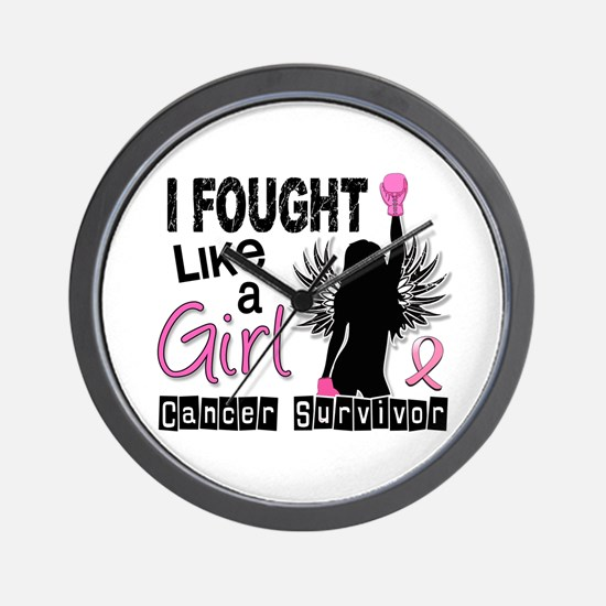Licensed Fought Like a Girl 26S Wall Clock