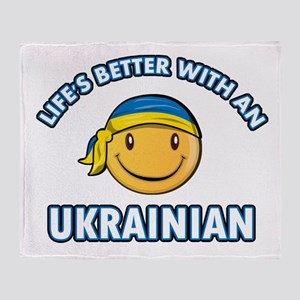 Cute Ukrainian designs Throw Blanket