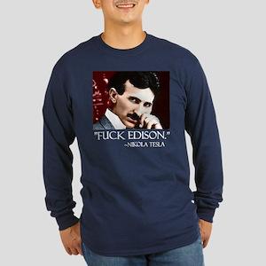 Nikola Tesla Long Sleeve Dark T-Shirt