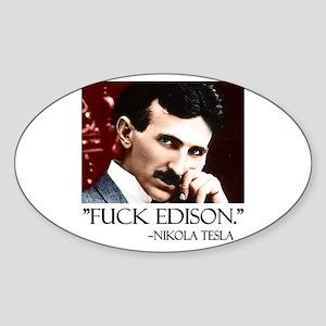Nikola Tesla Sticker (Oval)
