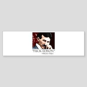 Nikola Tesla Sticker (Bumper)