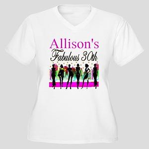 30TH PRIMA DONNA Women's Plus Size V-Neck T-Shirt