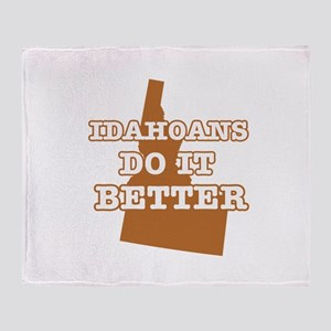 Idahoans Do It Better Throw Blanket