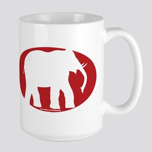 Red Elephant Large Mug