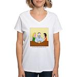 Pistachio-Stash Women's V-Neck T-Shirt