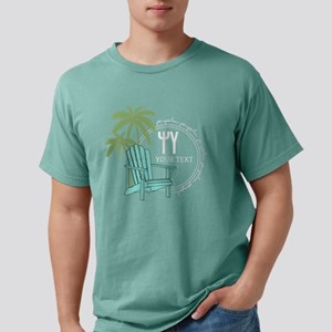 Psi Upsilon Palm Chair Mens Comfort Color T-Shirts