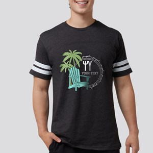 Psi Upsilon Palm Chair Pers Mens Football T-Shirts