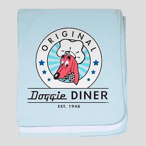 DOGGIE DINER Restaurant Logo #2 baby blanket