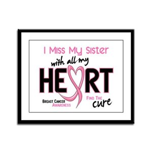 Miss With All My Heart Breast Cancer Framed Panel