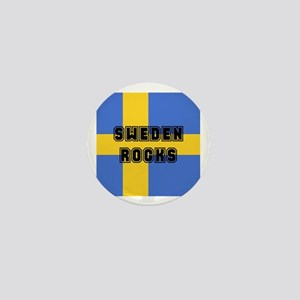 Sweden Rocks Mini Button