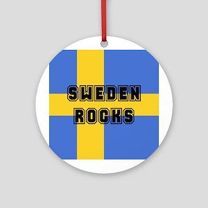 Sweden Rocks Ornament (Round)