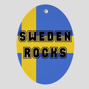 Sweden Rocks Oval Ornament