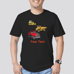 Works Site Vehicles and Text Men's Fitted T-Shirt