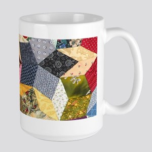 Tumbling Block Patchwork Quilt Large Mug