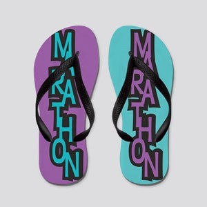Marathon PURPLE TURQUOISE Flip Flops