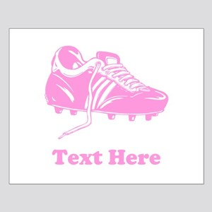 Pink Soccer Boot and Text. Small Poster
