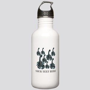 Scorpions and Gray Text. Stainless Water Bottle 1.