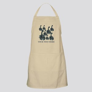 Scorpions and Gray Text. Apron