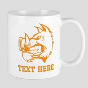 Boar and Custom Text. Mug