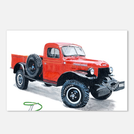 Antique Power Wagon Postcards (Package of 8)