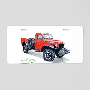 Antique Power Wagon Aluminum License Plate