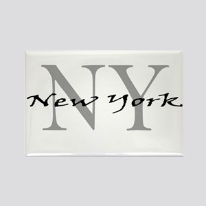 New York thru NY Rectangle Magnet