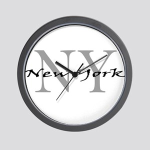 New York thru NY Wall Clock